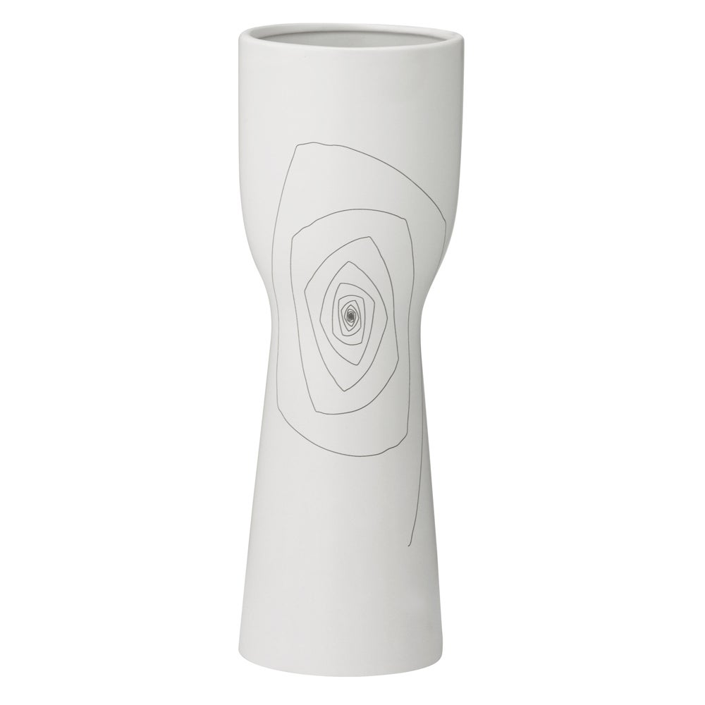 Small White 12.2-inch Brittany Chalice Vase