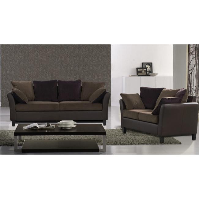 Tucana 2 Piece 2 Tone Sofa set