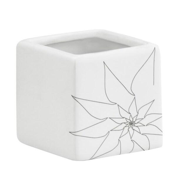 White Brenda Sqaure Vase (Set of 3)