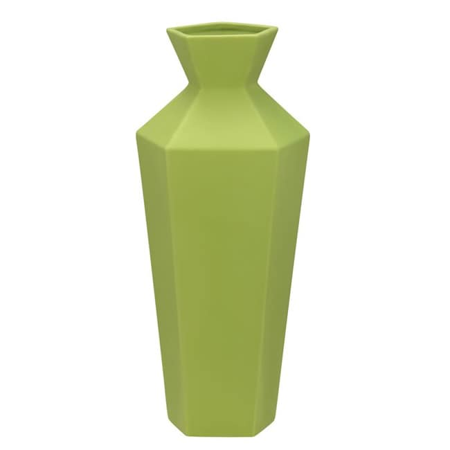 Zuo Ionic Ceramic Green Vase