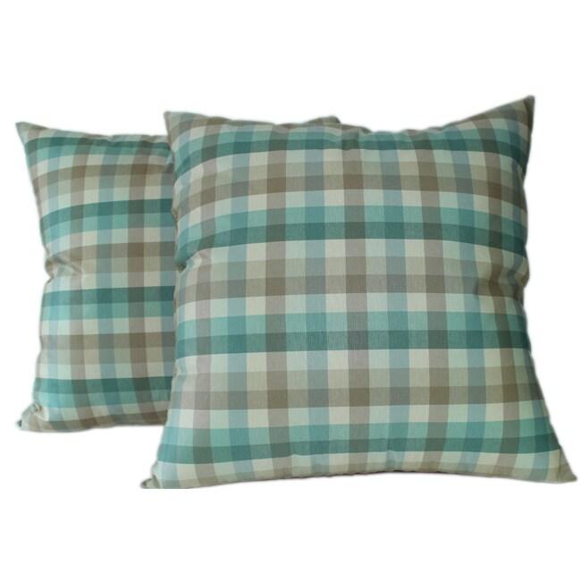 Casper Aqua Decorative Pillows (Set of 2)