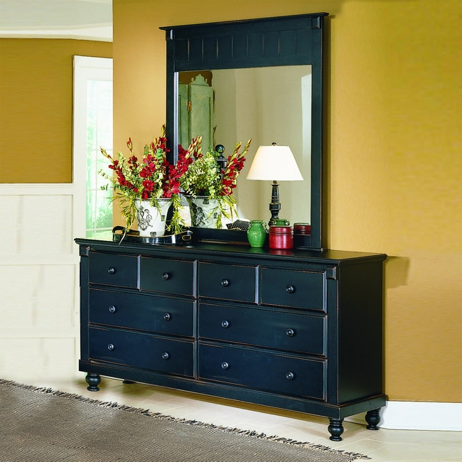 Macedonia Black Dresser/ Mirror