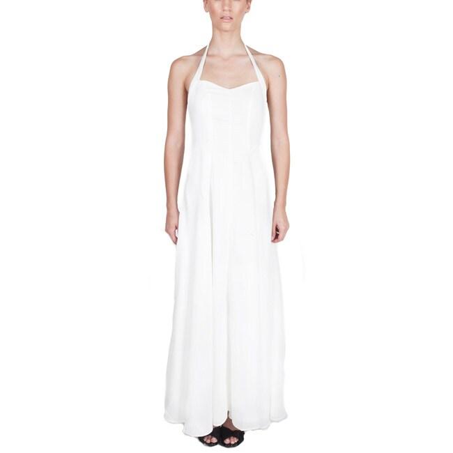 Nami Women's 'Hana' White Halter Dress