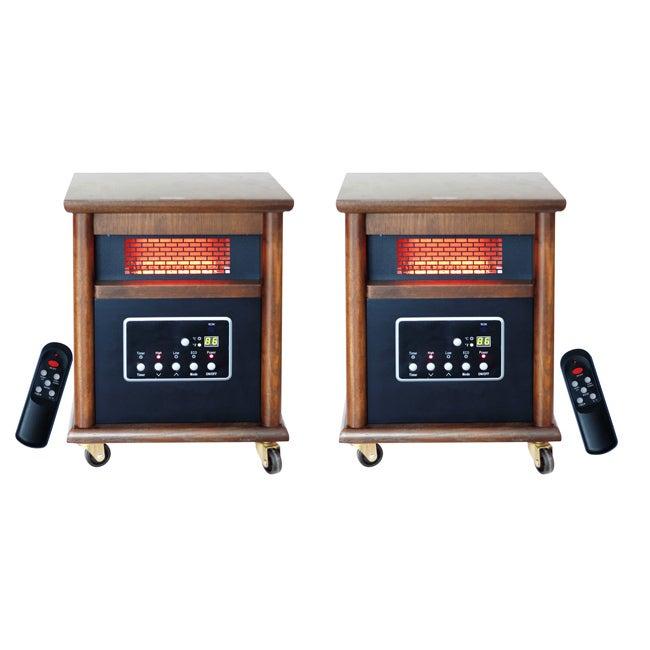 Lifesmart Zone 4 Element 1200 Square Foot Infrared Heaters with Remote (Set of 2)