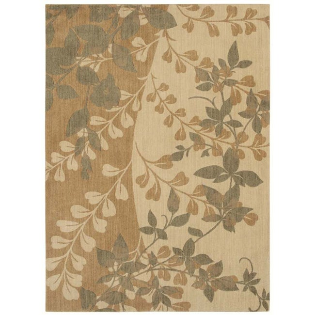 Pacifica Flora Bella Antique Gold Wool Rug (7'9 x 10'10)