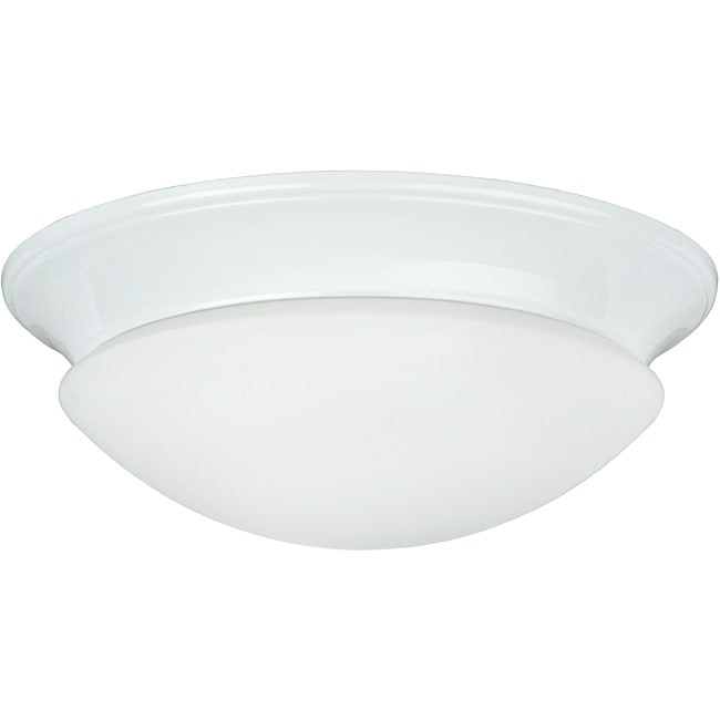 Two Light White Twist on Opal Flush Mount