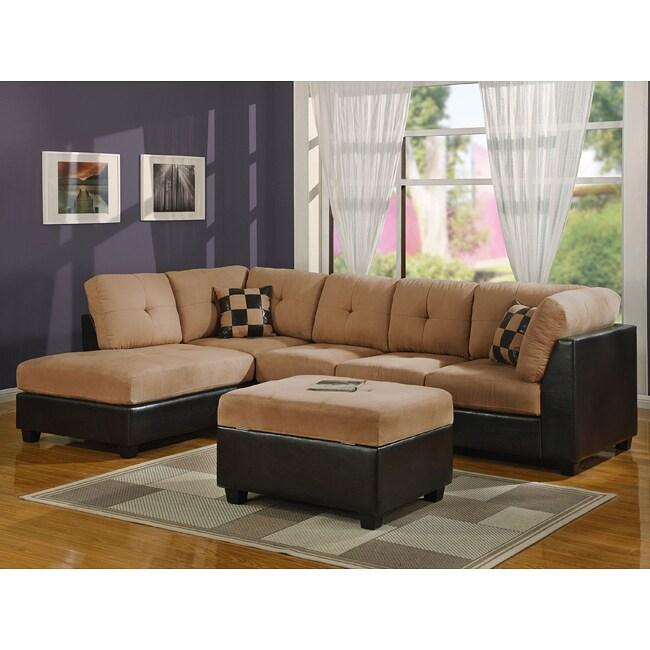 Saddle Sectional Sofa with Ottoman