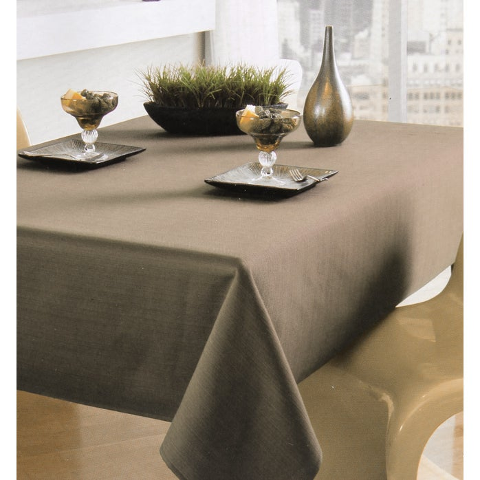 Khaki Textured Tablecloth