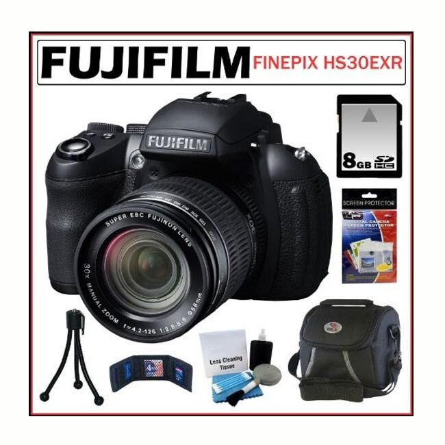 Fujifilm FinePix HS30EXR 16MP Digital Camera 8GB + Accessory Kit