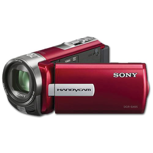 Sony DCR-SX65 Flash Memory Red Digital Camcorder