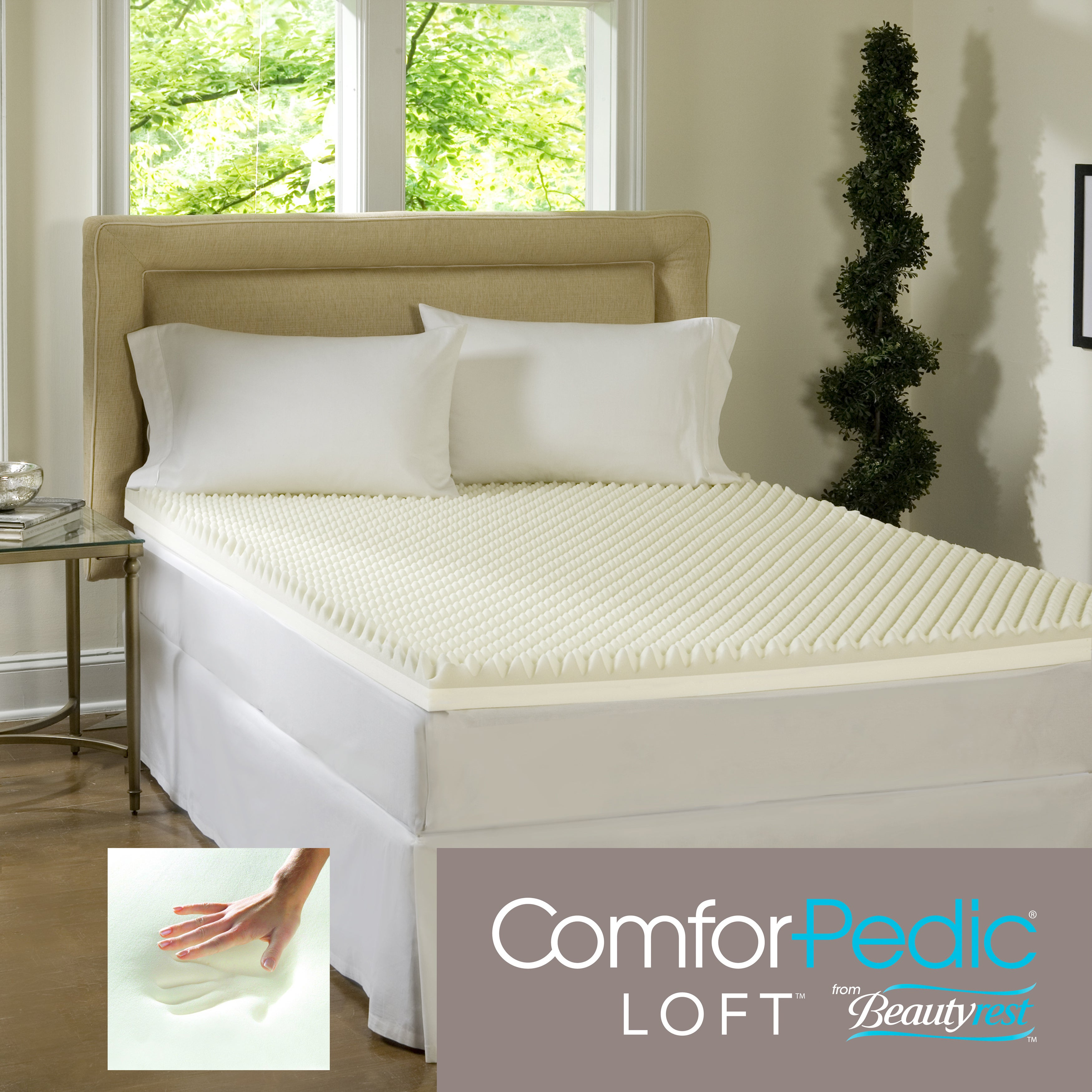 Beautyrest Highloft Mattress Makeover 4-inch Memory Foam Topper at Sears.com