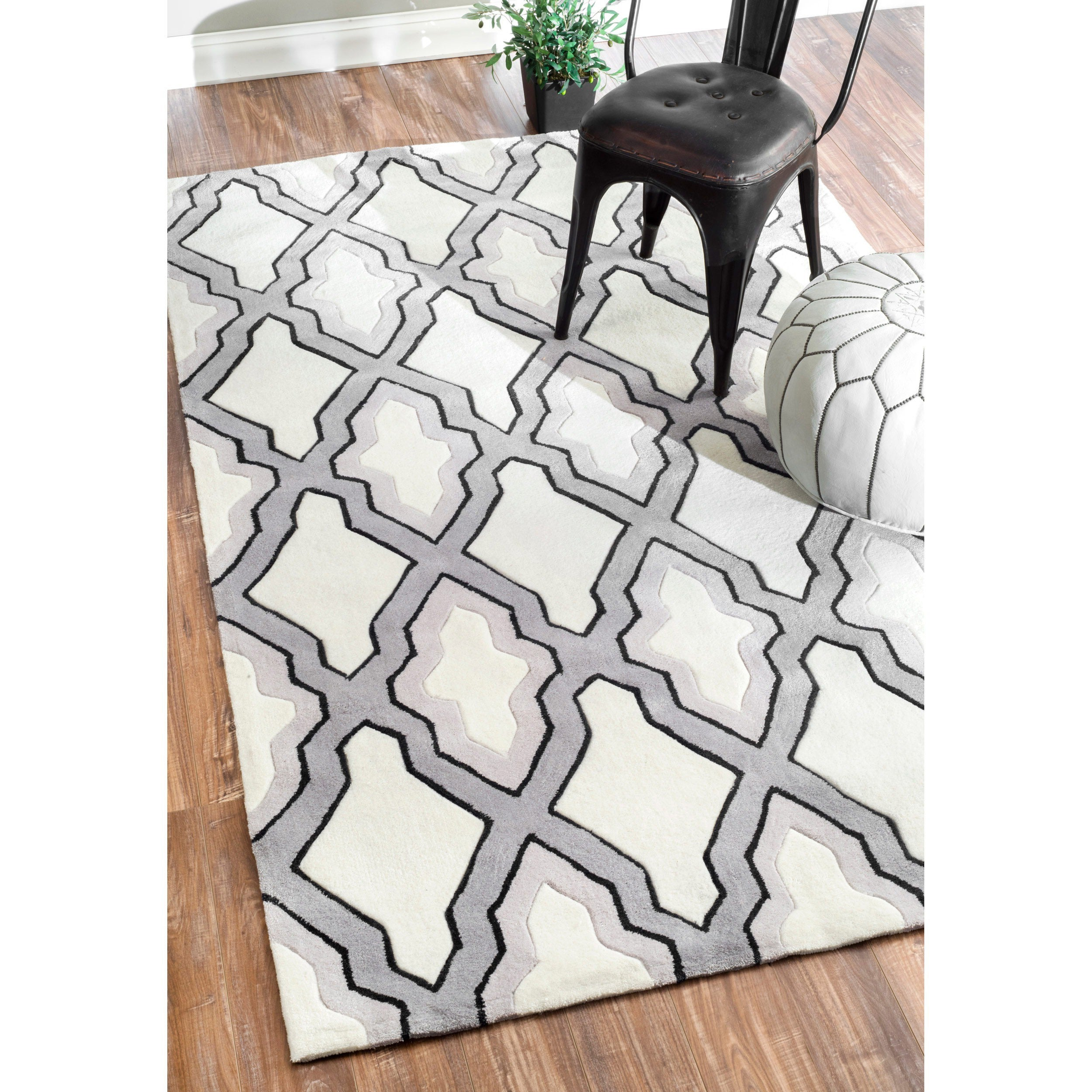 nuLOOM Handmade Marrakesh Moroccan Grey Trellis Rug (5' x 8') at Sears.com