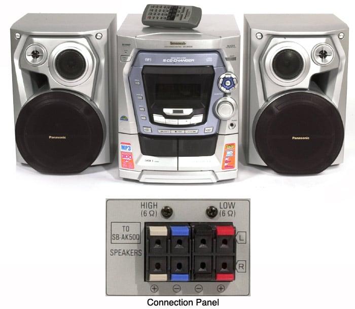 Panasonic SC-AK500 5-Disc CD Mini System (Refurbished)