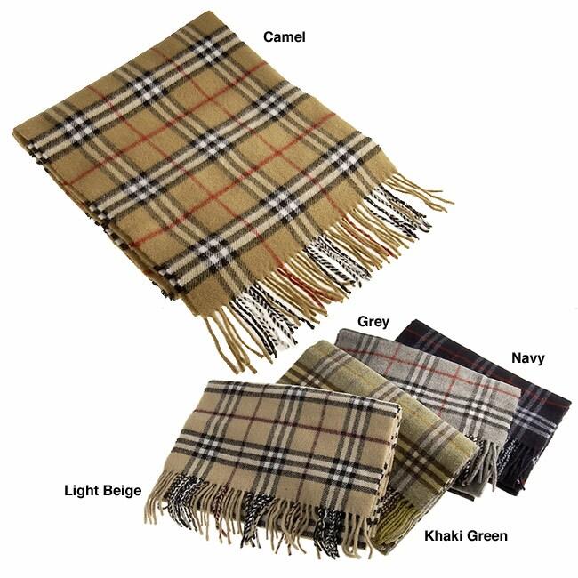 Burberry Plaid Wool Scarf