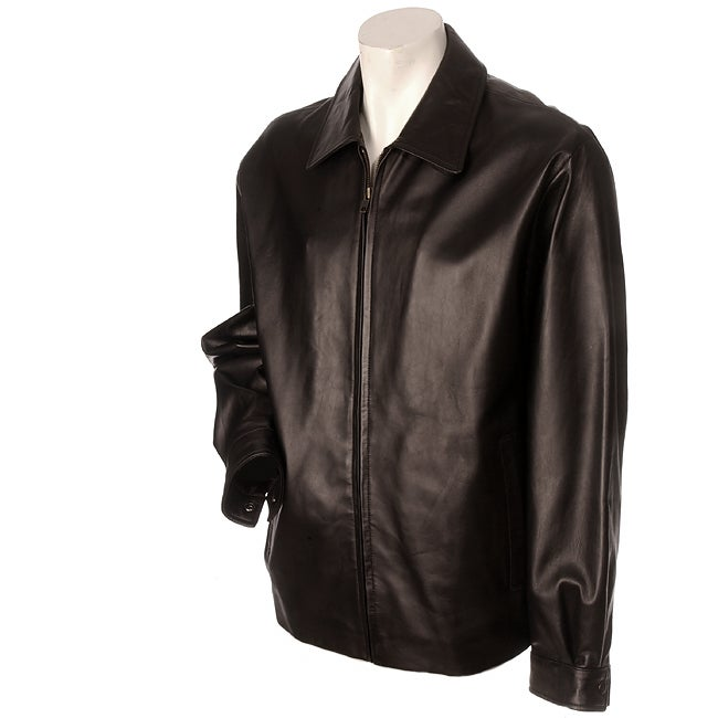 Pronto Uomo Men's Dark Chocolate Lambskin Jacket - Overstock