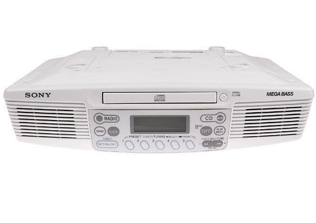 Sony ICF-CD533 Under-the-Cabinet Kitchen CD/Clock Radio (Refurbished)