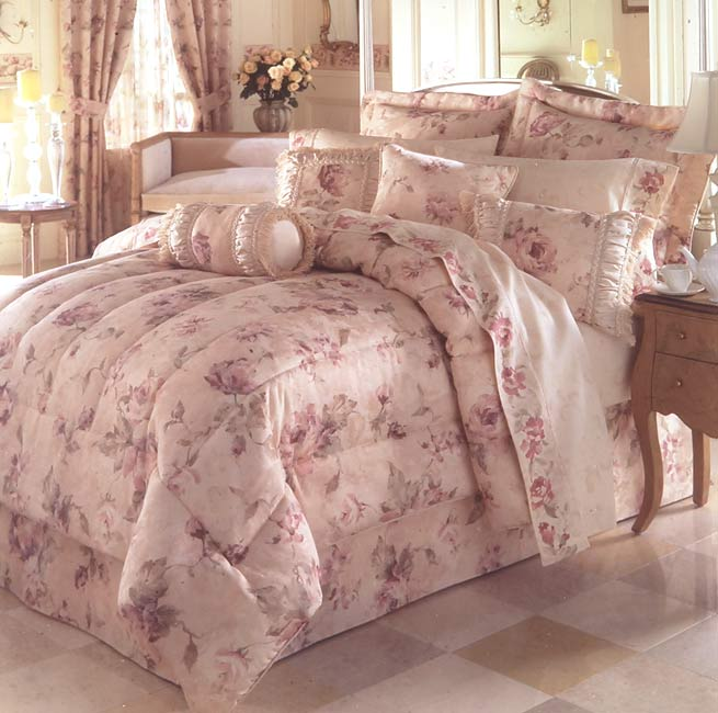 Antique Rose Jacquard Comforter Set Twin Overstock
