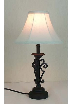 wrought iron accent lamp 416501 shopping. Black Bedroom Furniture Sets. Home Design Ideas