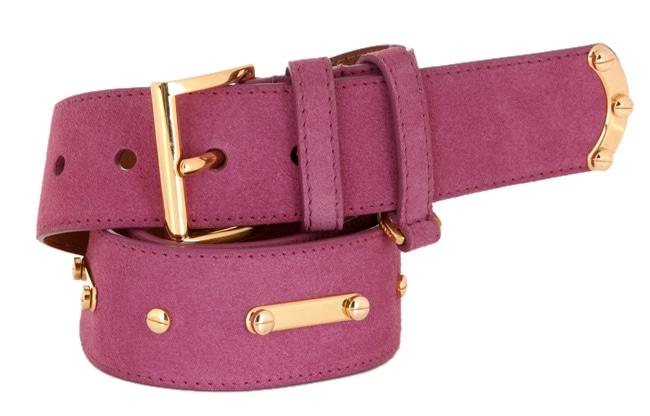 Prada Women\u0026#39;s Fuchsia Suede Belt - 420116 - Overstock Shopping ...