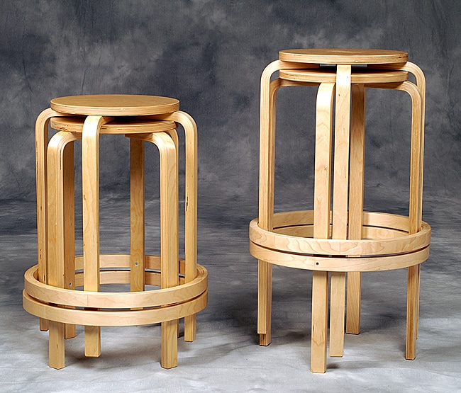 Bentwood Natural Stackable Counter Stools Set Of 4