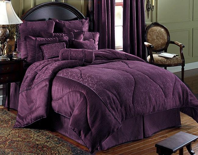 Charlotte Plum Comforter Set 425263 Overstock Com