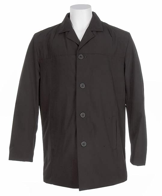 Skechers Men's Black Thigh-length Jacket