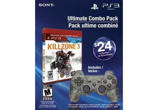 PS3 - Camo Dualshock 3 And Killzone 3 Bundle