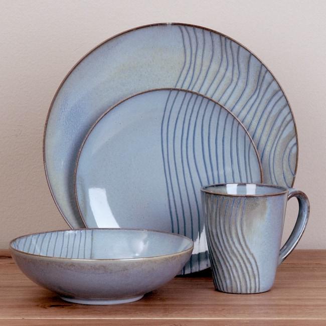 Joseph Abboud Mediterranean Waves Dinnerware Set (16-piece)