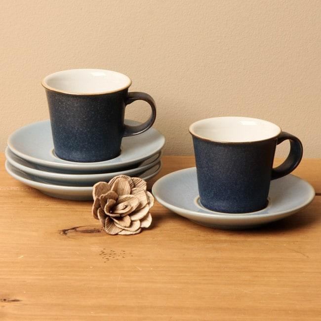 Blue Denby Coffee Cup