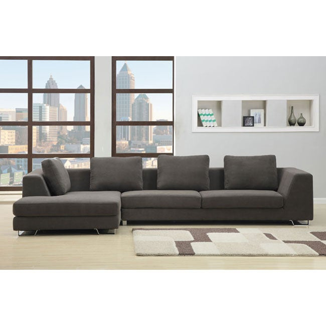 Rochester Charcoal Sectional Sofa Overstock Shopping Big Discounts On Sectional Sofas