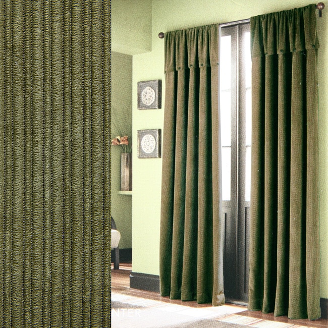 Croscill Hunter Corduroy Green 84-inch Curtain Panels - 80001754 ...