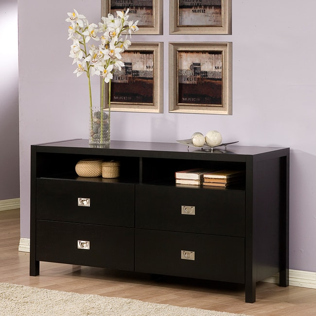 Napa Black 4-drawer Dresser