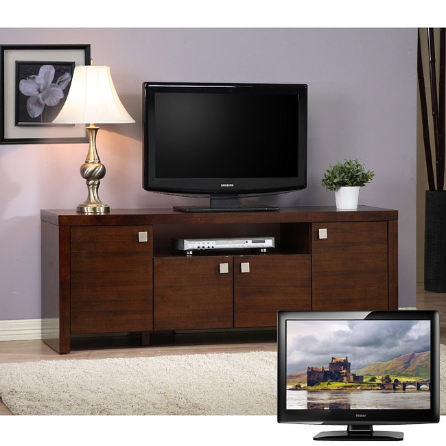 como entertainment center and 42 inch lcd haier tv bundle 80004342 overstock shopping. Black Bedroom Furniture Sets. Home Design Ideas