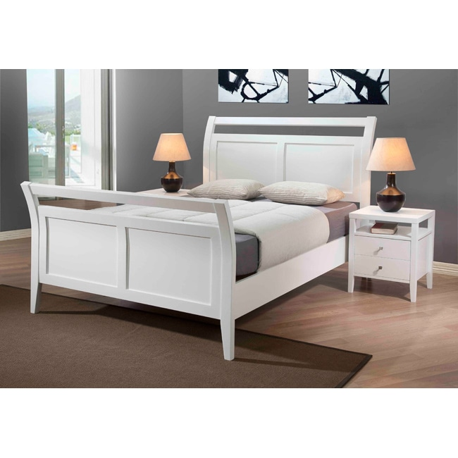 Aristo White Gloss Queen Bed