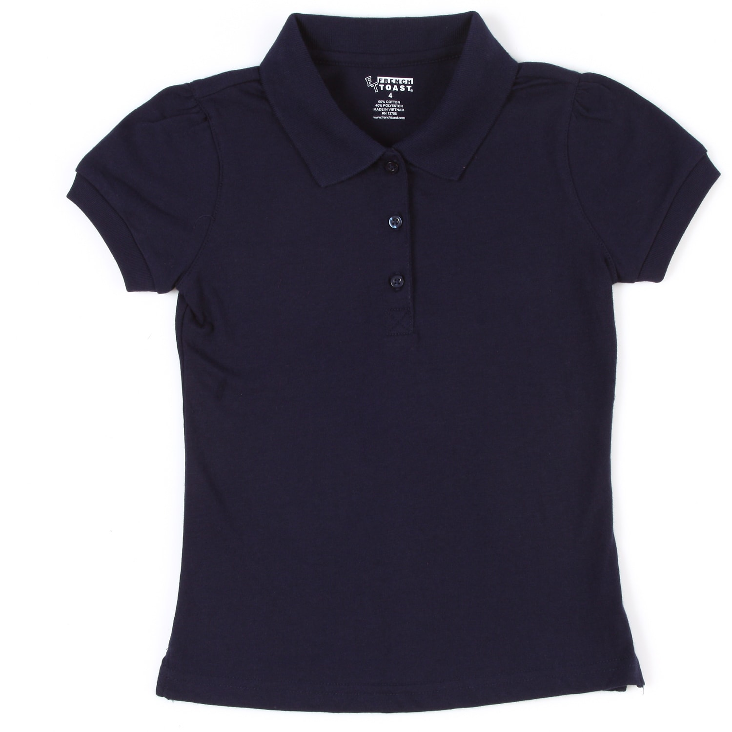 French Toast Girl's School Uniform Polo Size 5 (Set of 2)