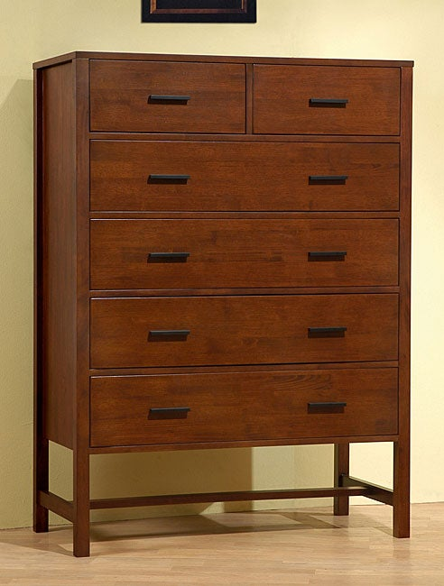 Bello Walnut Cherry 6-drawer Chest