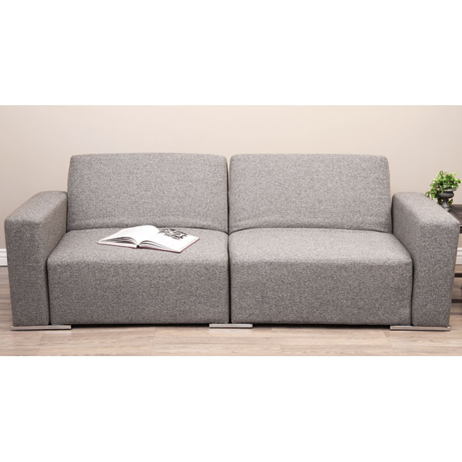 Reclining Tweed Sofa Bed