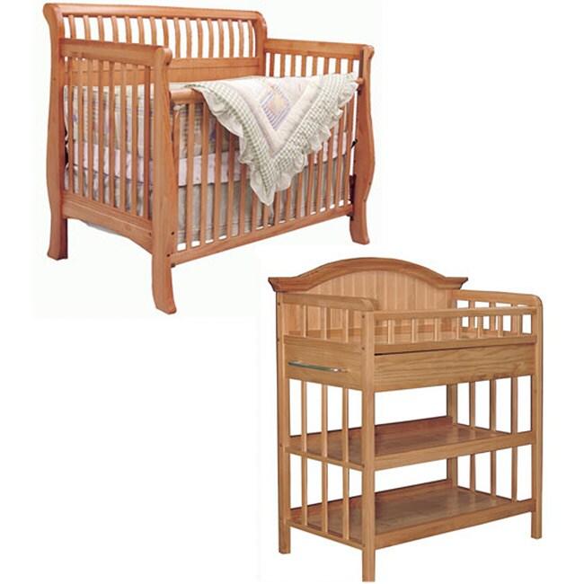 Bassett Baby Cottage Pine 2 Piece Nursery Set 80071288 Shopping Great Deals