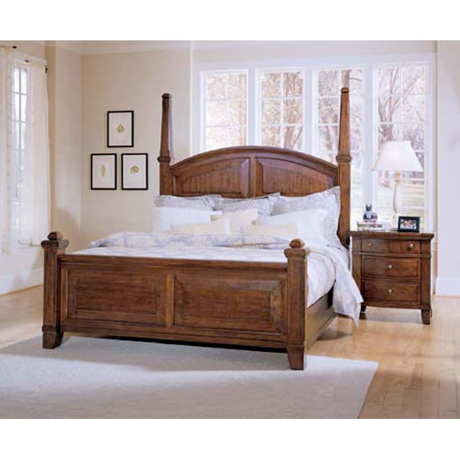 broyhill american era king size poster bed 80081021