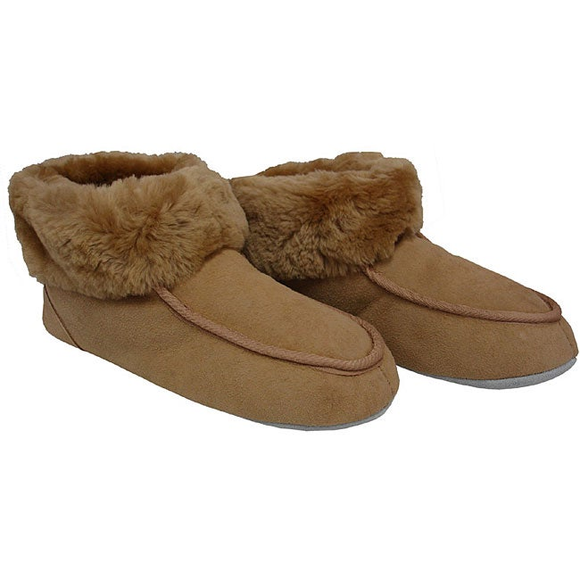 Sheepskin High-top Travel Slippers