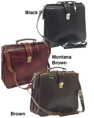 Small Satchel-style Leather Executive Briefcase
