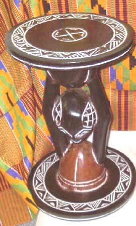 Hand-carved African Table (Ghana)