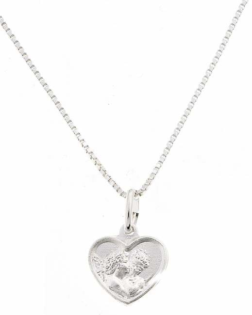 Sterling Essentials Sterling Silver 18-inch Angels Necklace