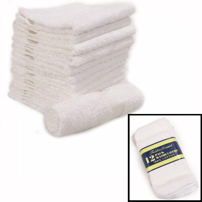 Cannon Egyptian Cotton Bath Towels: Fieldcrest Cannon 12-pk Washcloth Set (Case Of 36