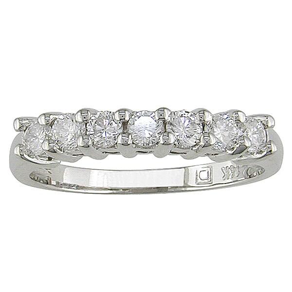 Miadora 14k White Gold 1/2ct Diamond Wedding Anniversary Band (G-H/ I1-I2)
