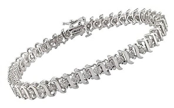 Miadora 14k White Gold 3ct TDW Diamond Tennis Bracelet (I-J, I2-I3)