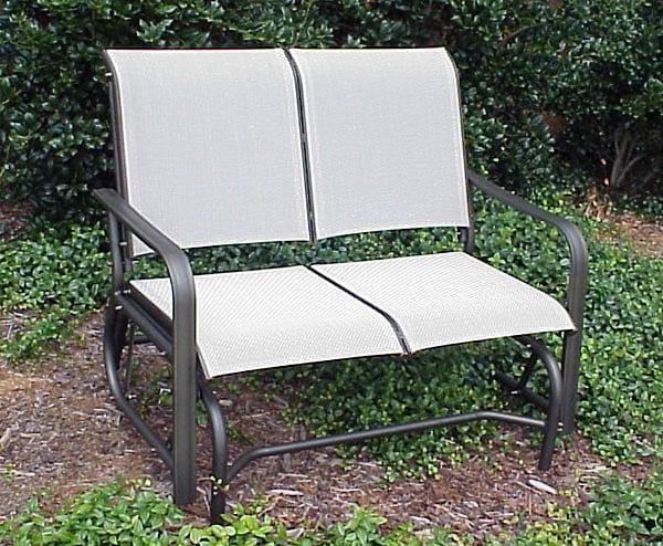 Aluminum slingback patio glider free shipping today overstock com 931830