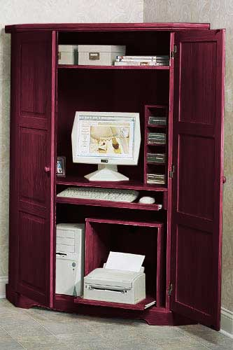 Canterbury Tall Corner Computer Armoire