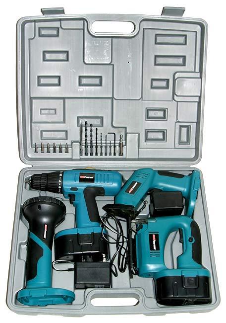 Coleman PMD8134 4-piece 18-volt Power Tool Kit