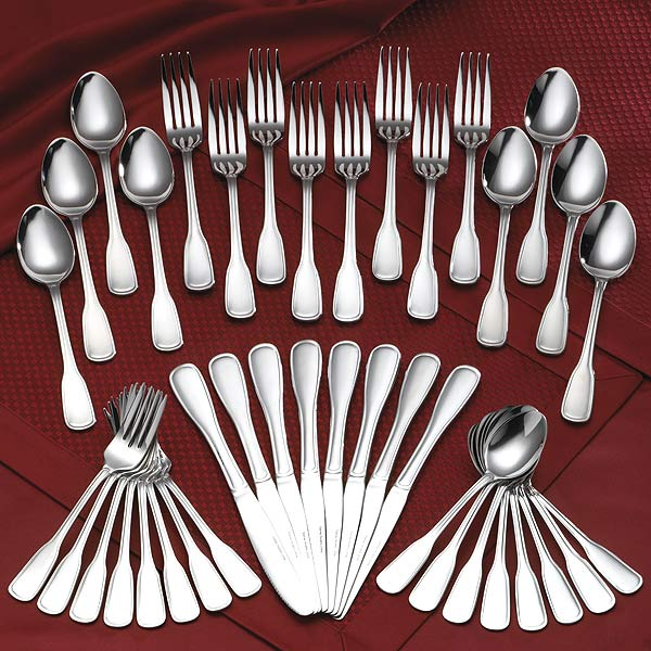 Rogers 18/0 Stainless 45-piece Old Boston Flatware